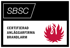 Certifierad anläggarfirma brandlarm